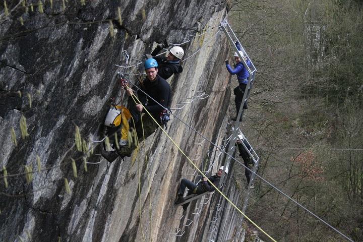 Klettersteig Ardennen : Klettersteigen via ferrata venturix outdoor